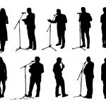10 Person With Microphone Silhouette (PNG Transparent)