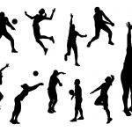 10 Volleyball Silhouette (PNG Transparent)