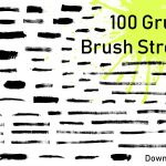 Download 100 Grunge Brush Strokes in PNG Transparent
