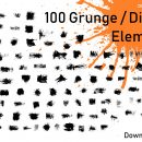 Download 100 Grunge Distort Elements in PNG Transparent