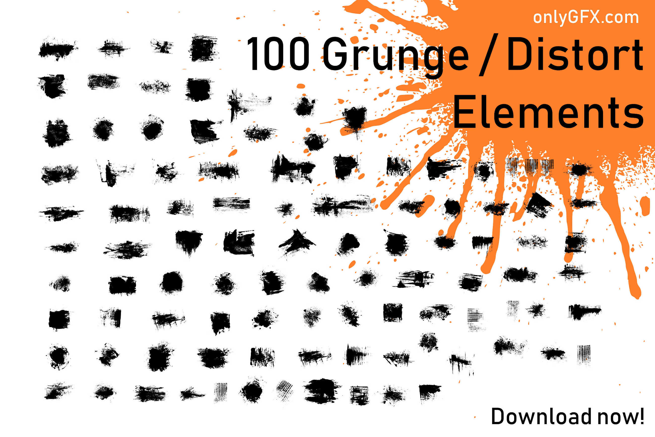 Download 100 Grunge Distort Elements in PNG Transparent | OnlyGFX com