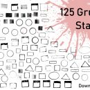 Download 125 Grunge Stamps in PNG Transparent