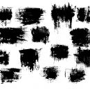 14 Dry Grunge Paint Scratch Background (PNG Transparent)