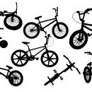 8 Bmx Bike Silhouette (PNG Transparent)
