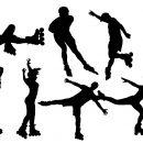 8 Rollerskater Silhouette (PNG Transparent)