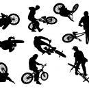 9 Bmx Biker Silhouette (PNG Transparent)