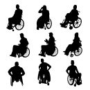 9 Handicap Disabled Wheelchair Silhouette (PNG Transparent)