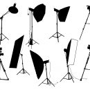 9 Photo Studio Equipment Silhouette (PNG Transparent)