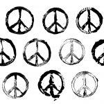 10 Grunge Stamp Peace Symbol (PNG Transparent)