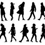 10 Woman Walking Silhouette (PNG Transparent)