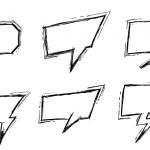 6 Drawn Comic Speech Bubble (PNG Transparent)