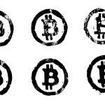 6 Grunge Bitcoin Logo (PNG Transparent)
