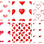 6 Heart Pattern (PNG Transparent)