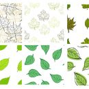 6 Leaf Tile Pattern no Background (PNG)