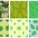 6 Leaf Tile Background Pattern (PNG Transparent)