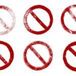 6 Red Grunge Prohibition Sign (PNG Transparent)