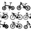 8 Bicycle Silhouette (PNG Transparent)
