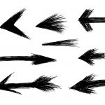 8 Scratch Drawn Arrows (PNG Transparent)