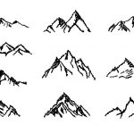 10 Simple Mountain Drawing (PNG Transparent)