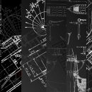 6 Black Blueprint Background Texture (JPG)