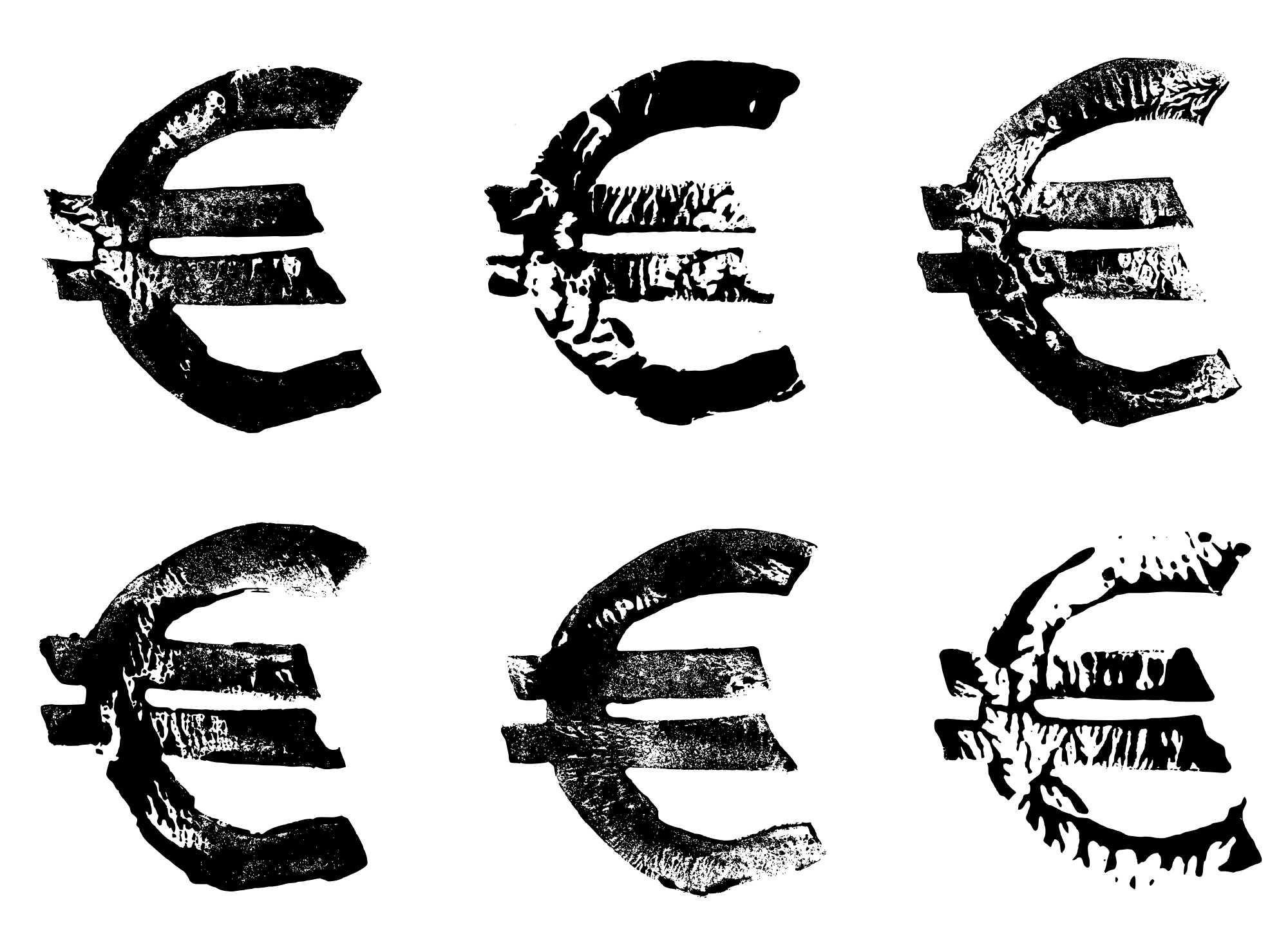 6 Grunge Stamp Euro Symbol Png