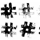 8 Grunge Stamp Hashtag (PNG Transparent)