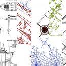 8 White Blueprint Background Texture (JPG)