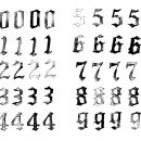 Grunge Gothic Numbers (PNG Transparent)