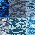 6 Blue Camouflage Texture Tile (PNG Transparent)