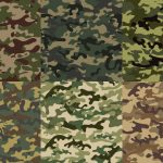 6 Green Camouflage Texture Tile (PNG Transparent)