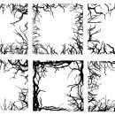 6 Square Tree Branch Frame (PNG Transparent)