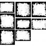 8 Black Splatter Frame (PNG Transparent)