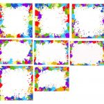 8 Colorful Splatter Frame (PNG Transparent)