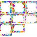 8 Colorful Splatter Frame (PNG Transparent)