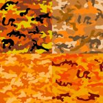 4 Orange Camouflage Texture Tile (PNG Transparent)