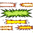 6 Starburst Explosion Banner Comic Vector (PNG Transparent, SVG)