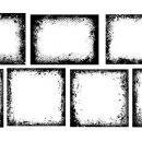 7 Grunge Halftone Frame (PNG Transparent)