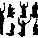 7 Praising Silhouette (PNG Transparent)