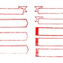 9 Long Empty Red Banner Stamp (PNG Transparent)