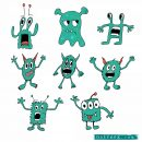 8 Cartoon Monster Vector (EPS, SVG, PNG Transparent)