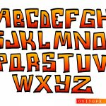 Cartoon Fire Alphabet (EPS, SVG)