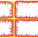 Cartoon Fire Flame Frame (PNG Transparent)