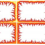Cartoon Fire Flame Frame (PNG Transparent)