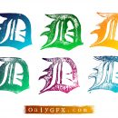 Grunge Gothic Letter D Vector (EPS, SVG)