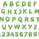 Dripping Alphabet (EPS, SVG)