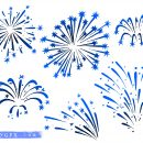 6 Fireworks Drawing Vector (EPS, SVG)