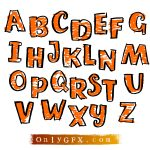 Funny Cartoon Hand Drawn Alphabet Vector (EPS, SVG)