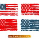 Grunge American Flag Vector (EPS, SVG)