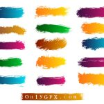 Grunge Brush Strokes Vector (EPS, SVG)