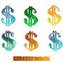 Grunge Dollar Sign Vector (EPS, SVG)